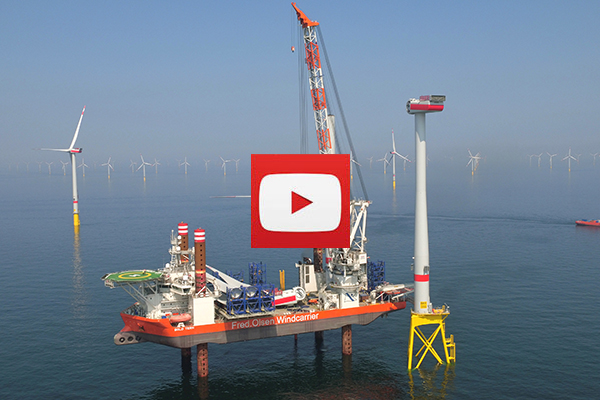 video fred olsen windcarrier at borkum riffgrund ii