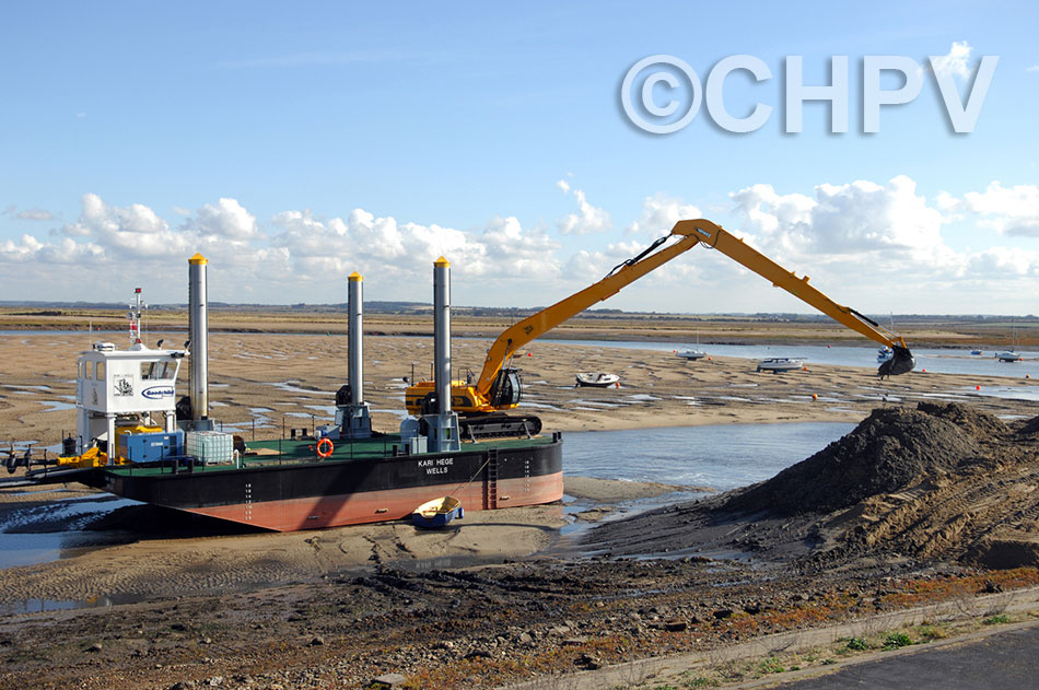 dredging the new basin at wells next the sea