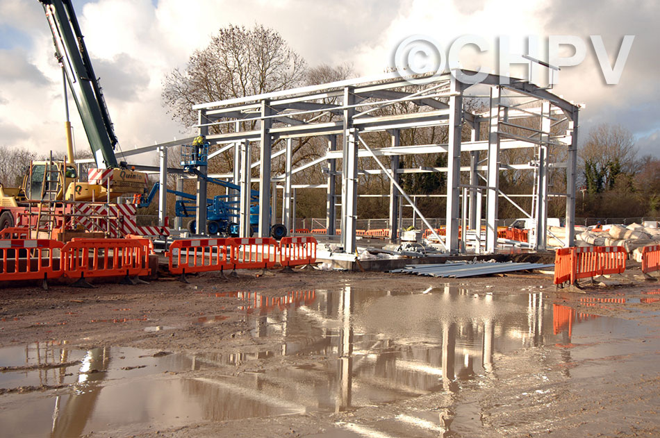 salle substation starts to take shape