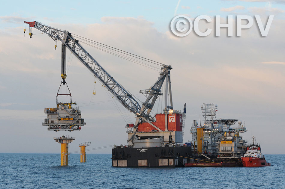 installation of the first offshore substation